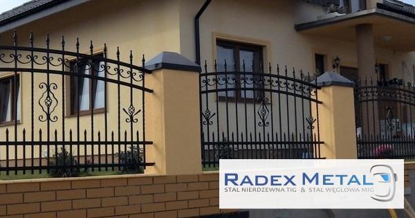 Firma Radex Metal, woj. pomorskie - konstrukcje stalowe ze stali zwykłej i nierdzewnej - balustrady, bramy, ogrodzenia, furtki, zadaszenia, schody, ..