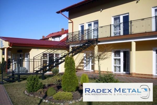 Balustrady schodowe Radex Metal Słupsk.